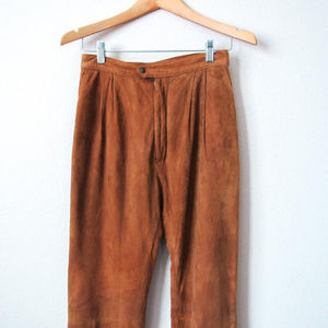 Vintage Suede High Waisted Pants Brown SZ 5/6